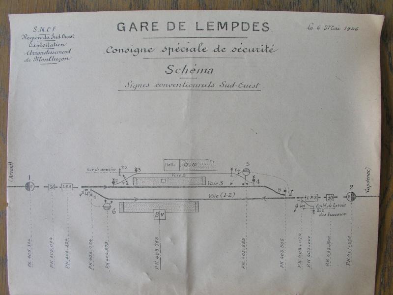 """Gares de V.U """"voie de gauche type Sud-Ouest"""" - Page 2 Lempde10"""