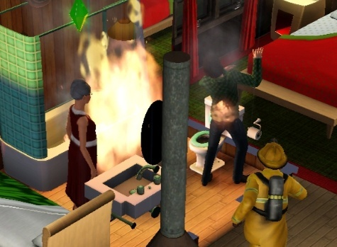 [Sims 3] Mini-défi Sauvez Noël ... - Page 7 Feu210