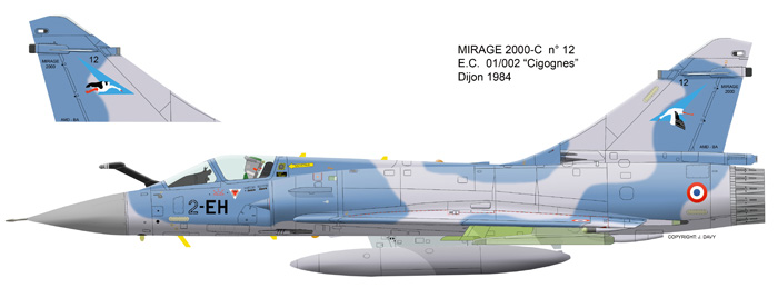 Mirage 2000 B colours M2000-10