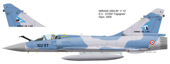 Mirage 2000 B colours M2000-11