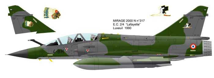 Mirage 2000 B colours Mirage10