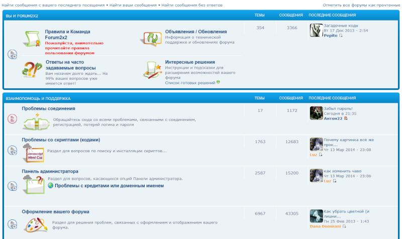 """Обновление на Forum2x2:  Шаблоны BB3 и Invision / Запланированные рассылки / Аватары в """"Последних сообщениях"""" Avatar17"""