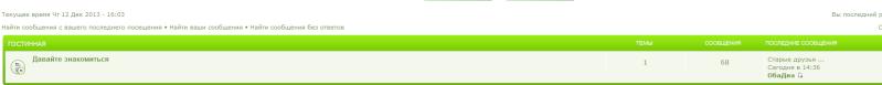 На первой странице форума, в категории не отображается одна из тем, но в иконке о новом собщении показывает Old_fr10