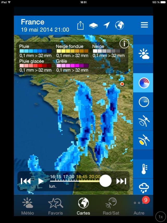 Dégradation orageuse potentiellement active pour ce soir et surtout durant la nuit prochaine. Image28