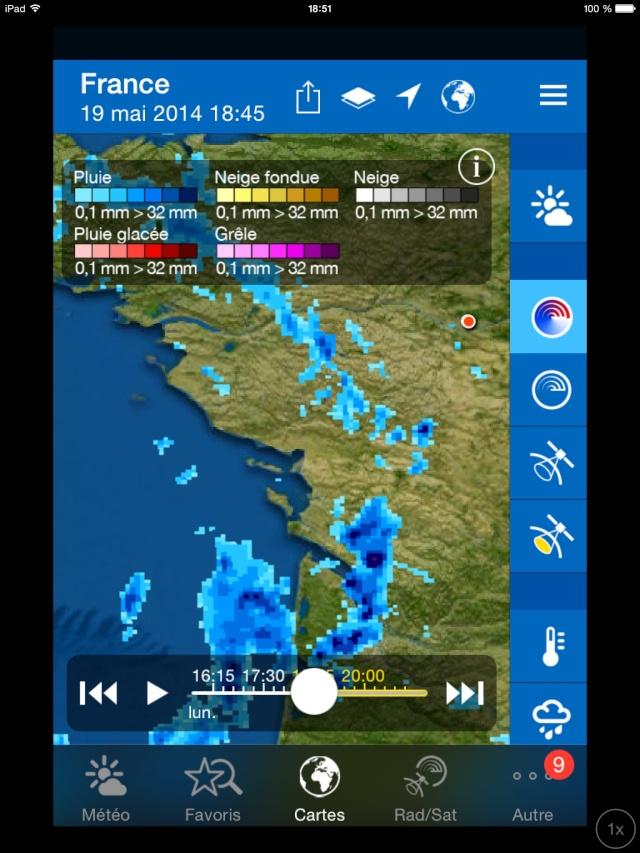 Dégradation orageuse potentiellement active pour ce soir et surtout durant la nuit prochaine. Image29