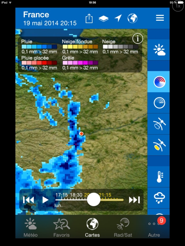 Dégradation orageuse potentiellement active pour ce soir et surtout durant la nuit prochaine. Image30