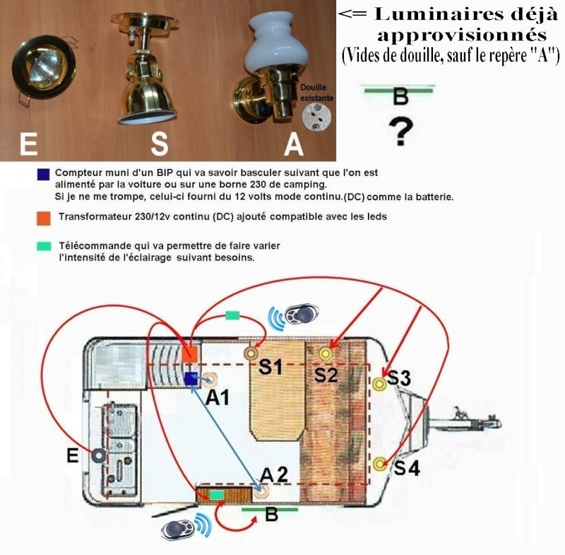 Eclairage Grand Luxe dans Eriba (Led, transfo, variateur..?) Plan_110