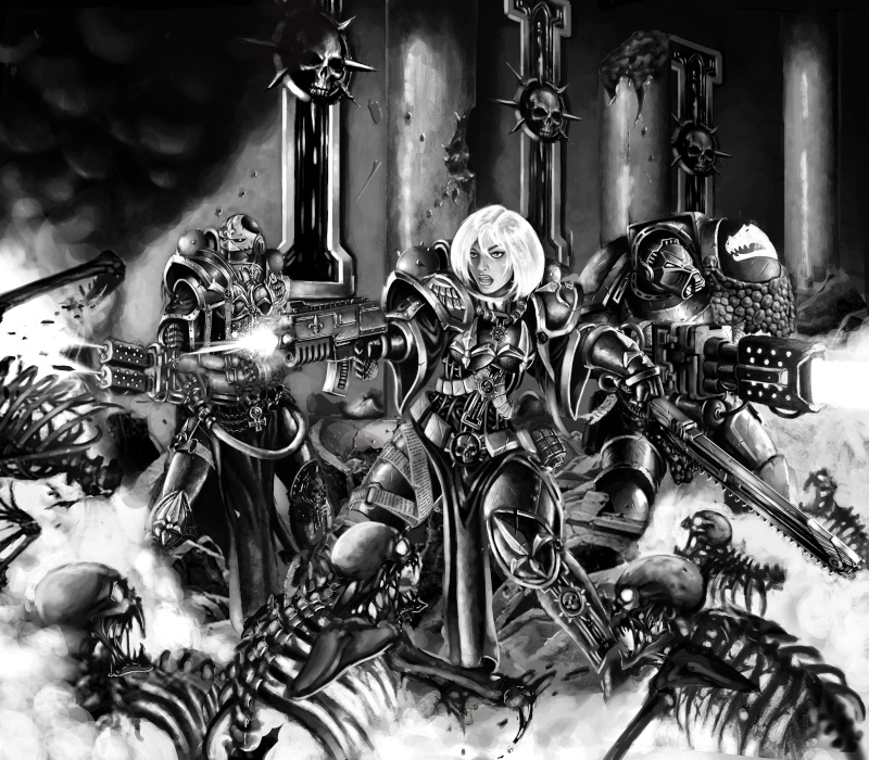 [W40K] Collection d'images : Inquisition/Chevaliers Gris/Sœurs de Bataille - Page 4 Soeurs10