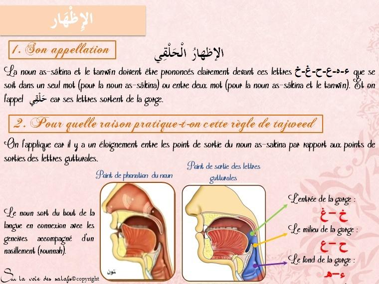 Première Règle: le noun non vocalisée & les voyelles doubles Al_idh10