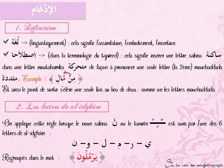 Première Règle: le noun non vocalisée & les voyelles doubles Al_idh12