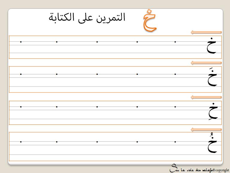 Support apprendre l 39 alphabet arabe avec slvds - Alphabet arabe a imprimer ...