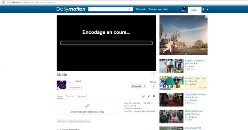 INSERER UNE VIDEO DAILYMOTION SUR LE FORUM 1210