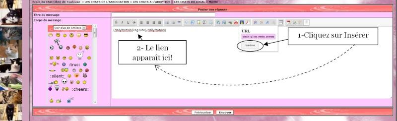 INSERER UNE VIDEO DAILYMOTION SUR LE FORUM 1610
