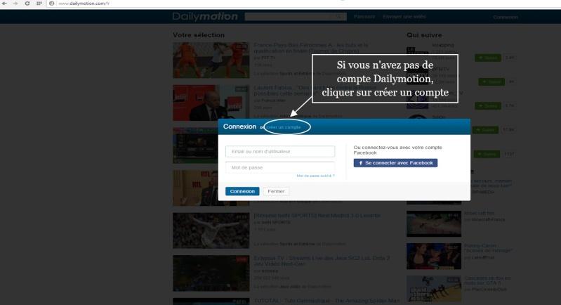 INSERER UNE VIDEO DAILYMOTION SUR LE FORUM 310