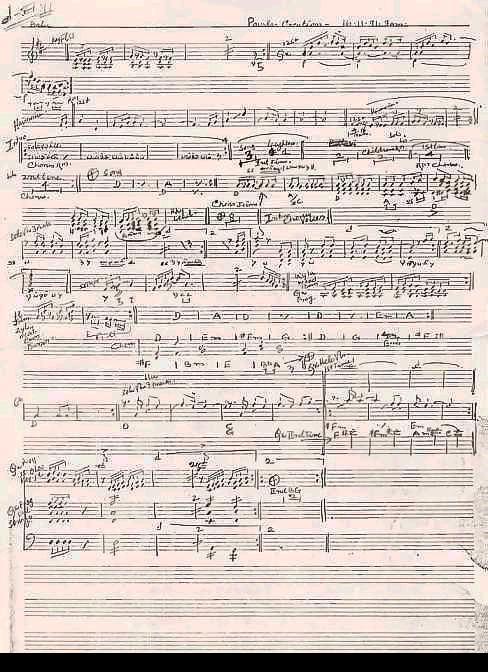 Ilayaraaja's Score Sheets Score112