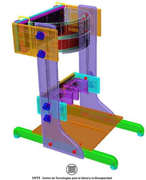 Dispositivos de ayuda a la Discapacidad - Planos de bipedestador de madera Bipest10