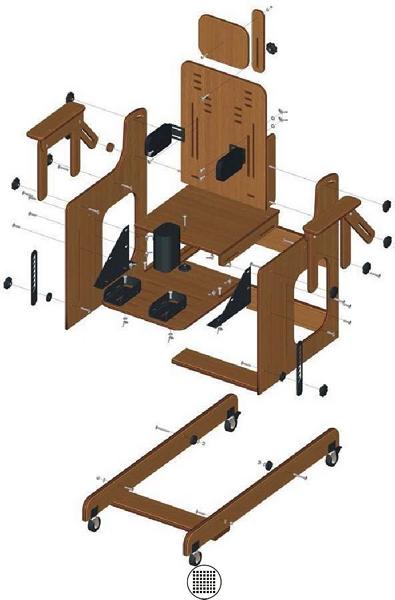Dispositivos de ayuda a la Discapacidad - Planos de Silla Postural + Mesa Silla_10