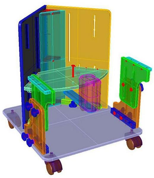 Dispositivos de ayuda a la Discapacidad - Planos de silla esquinera Sillae10