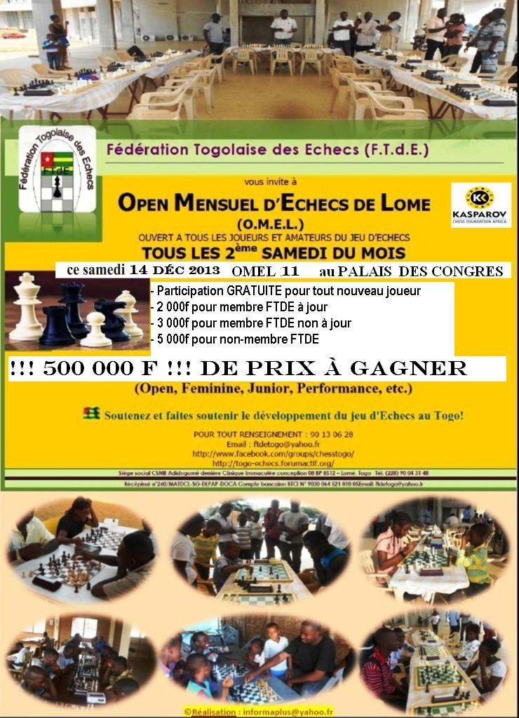 OMEL 11 (11ème Open Mensuel d'Echecs de Lomé) Affich11