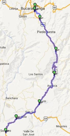 Mi pequeña Vuelta a Colombia.  14 etapas - 30 días - 1530km  Aratoc11