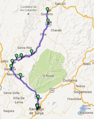 Mi pequeña Vuelta a Colombia.  14 etapas - 30 días - 1530km  Captur53