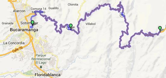 Mi pequeña Vuelta a Colombia.  14 etapas - 30 días - 1530km  Captur68