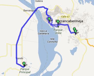 Mi pequeña Vuelta a Colombia.  14 etapas - 30 días - 1530km  Captur73