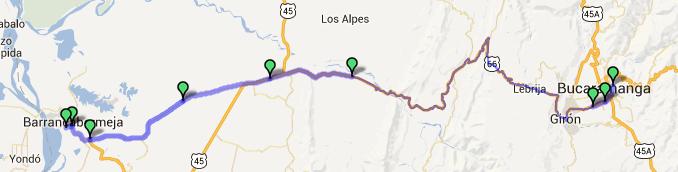 Mi pequeña Vuelta a Colombia.  14 etapas - 30 días - 1530km  Captur74