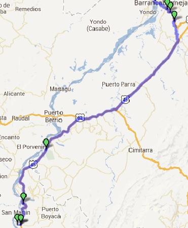 Mi pequeña Vuelta a Colombia.  14 etapas - 30 días - 1530km  Puerto12