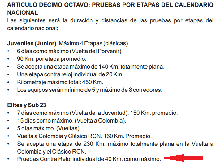 ¿Federación Colombiana o Federación Antioqueña de Ciclismo? Reglam10