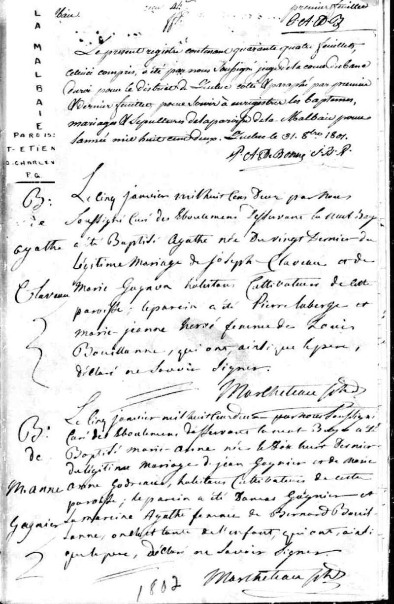 Agathe Gagné, Montagnaise - Page 2 Baptam35