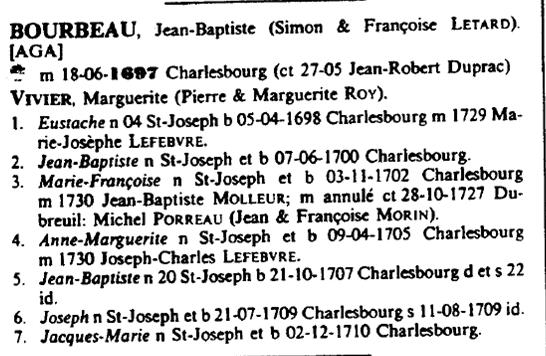 Mariage de André Bernier & Josephte Bourdeau Bourbe10