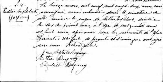 Duguay Jean-Baptiste marié à Elizabeth Lelièvre Dacas_26