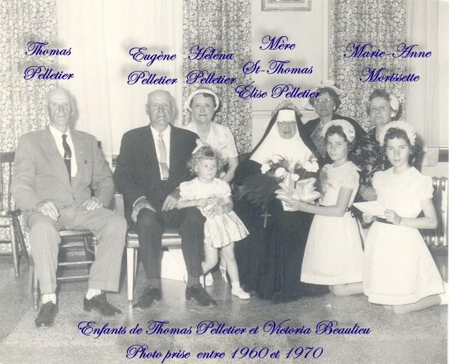 Famille Thomas Pelletier et Marie-Blanche Dumas - Souvenirs partagés par Denise Famill28