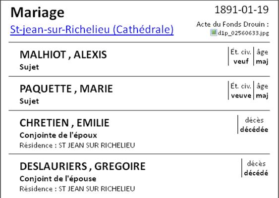 Recherche naissance de Marie Deslauriers Mailho10