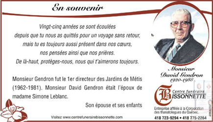 Gendron, David (Messe anniversaire) Messan10