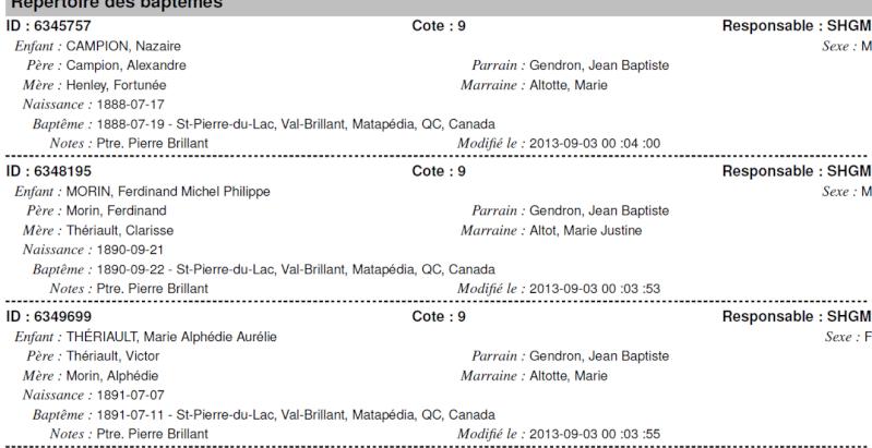Famille Gendron, Otot Naissa11