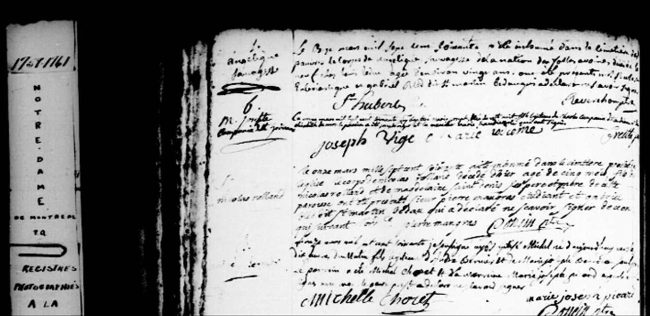 Mariage de André Bernier & Josephte Bourdeau Naissa28