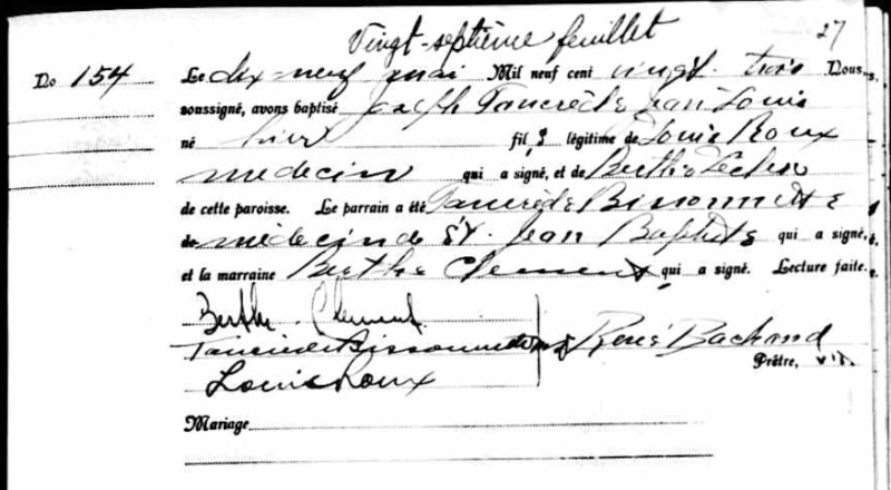 Roux, Jean-Louis Jean-Louis Roux, n'est plus Naissa28