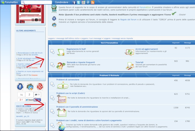 Aggiungere forum e categorie Scherm10