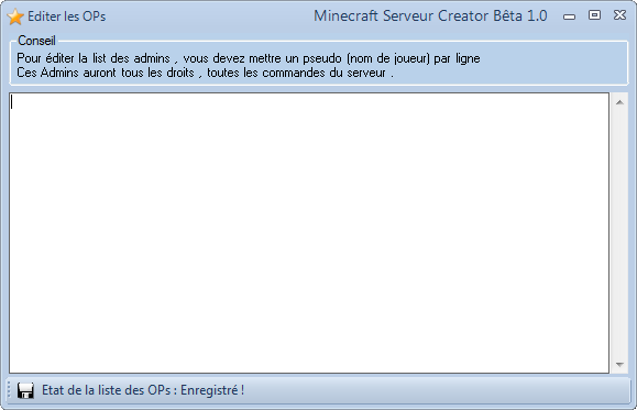 MineServ Creator 2.4 (3.0 en DEV ...) - Page 3 Captur20