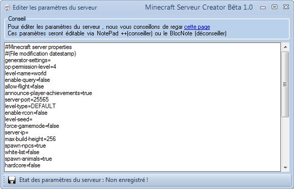 MineServ Creator 2.4 (3.0 en DEV ...) - Page 3 Captur21