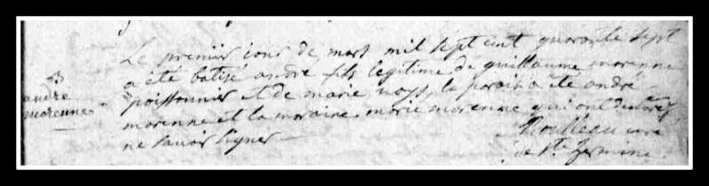 curé - Recherches sur l'abbé Morennes, curé de Saint-Mars-la-Réorthe... Acte_d12