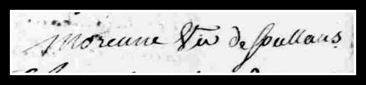 curé - Recherches sur l'abbé Morennes, curé de Saint-Mars-la-Réorthe... Signat17