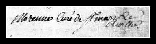 curé - Recherches sur l'abbé Morennes, curé de Saint-Mars-la-Réorthe... Signat18