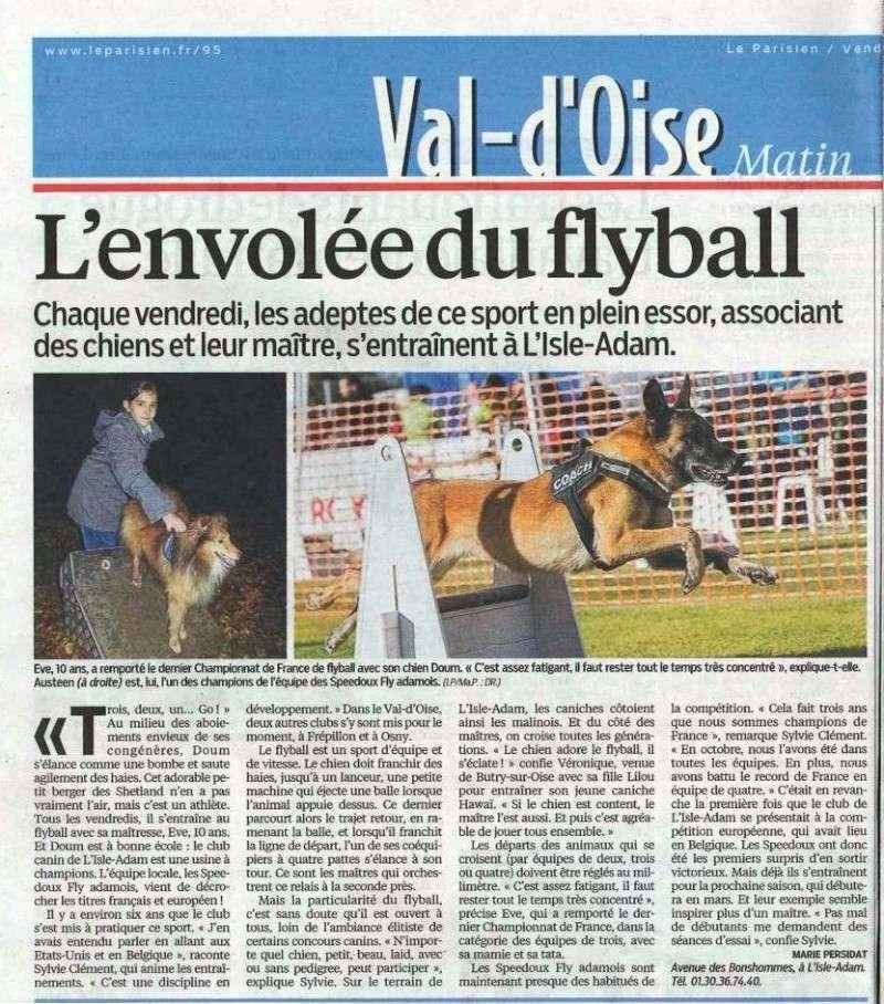 Article sur le Fly dans le Parisien Ed. Val d'Oise du 15/11/2013 Fly-le10