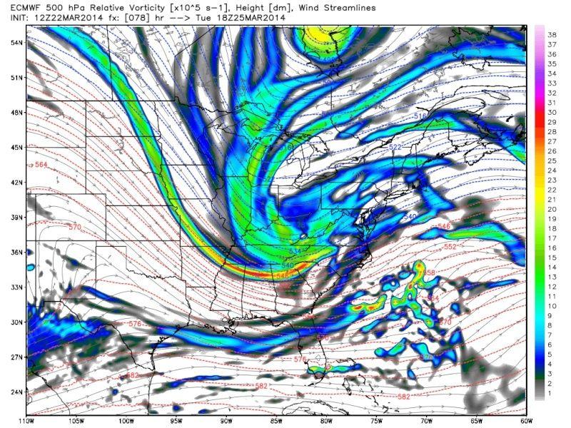 March 25th-26th Possible Coastal Storm Potential 2.0 - Page 5 Ecmwf_14