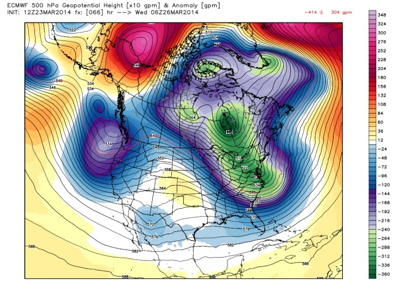 March 25th Glancing Blow Storm, 1st Call Snow Map - Page 2 Euro_j14