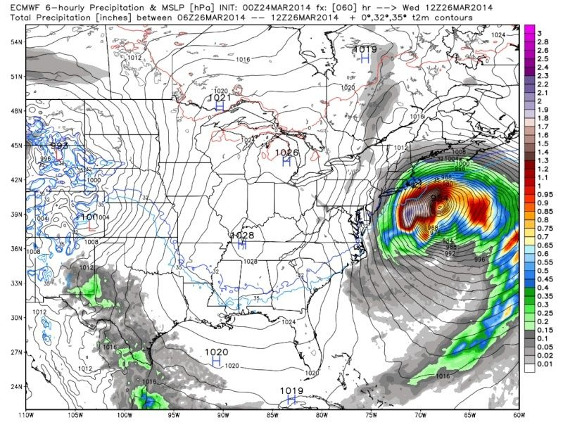 March 25th Glancing Blow Storm, 1st Call Snow Map - Page 2 Euro_s18
