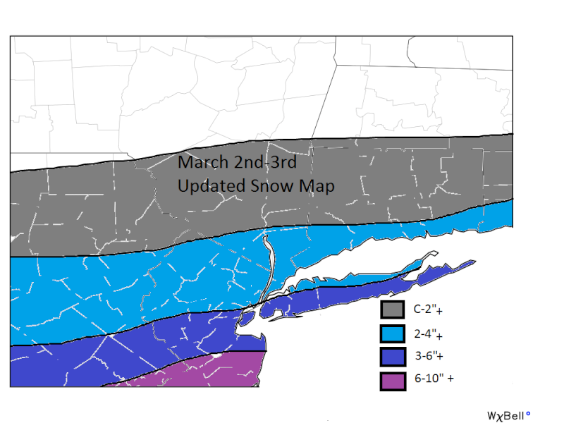 MARCH 2nd-3rd SNOW MAPS ONLY (Updated as of 9am 3/2) March_13